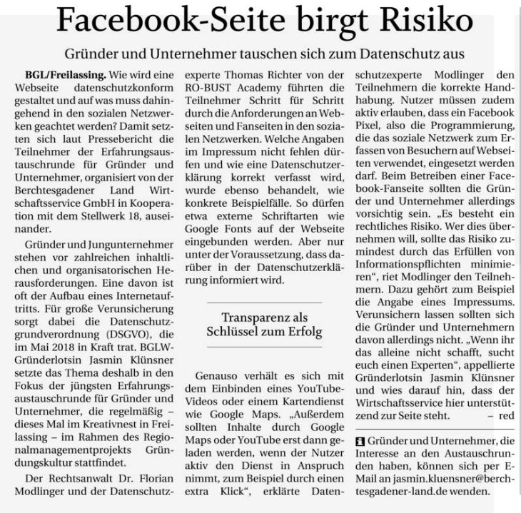 PNP Bericht ERFA Gründer