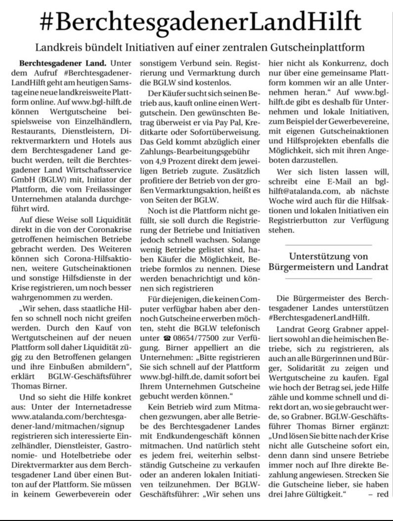 BGLhilft Pressebericht PNP