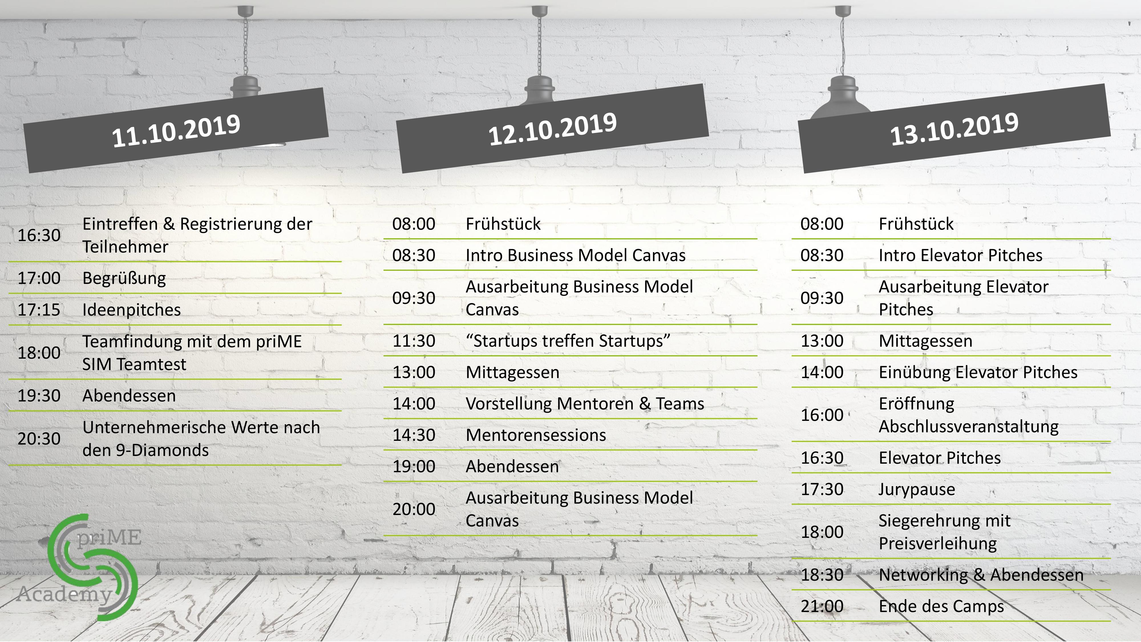 Agenda Startup Camp