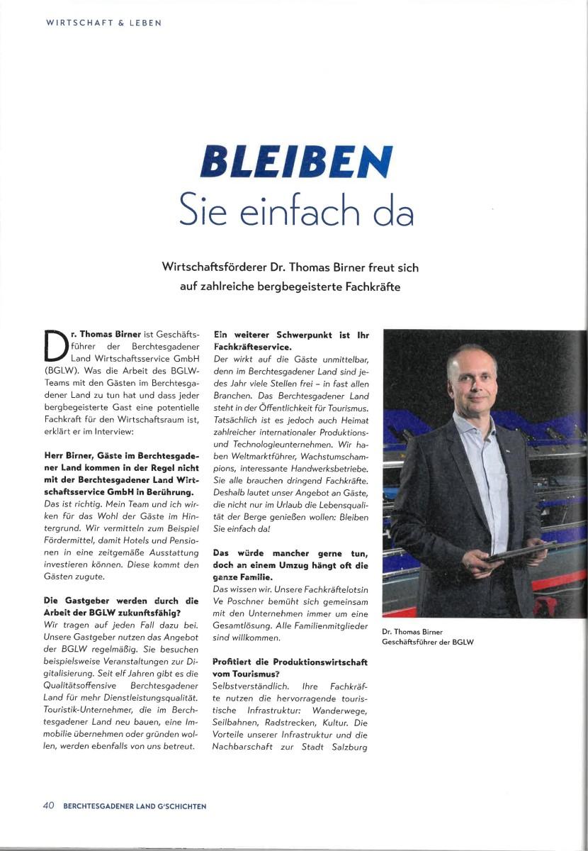 BGLT Interview - Dr. Thomas Birner