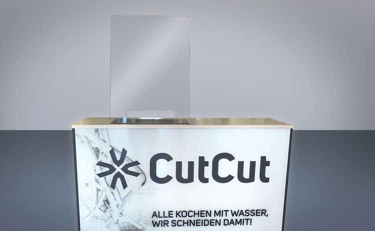 Ein Beispielmodell des CutCut Spuckschutzes