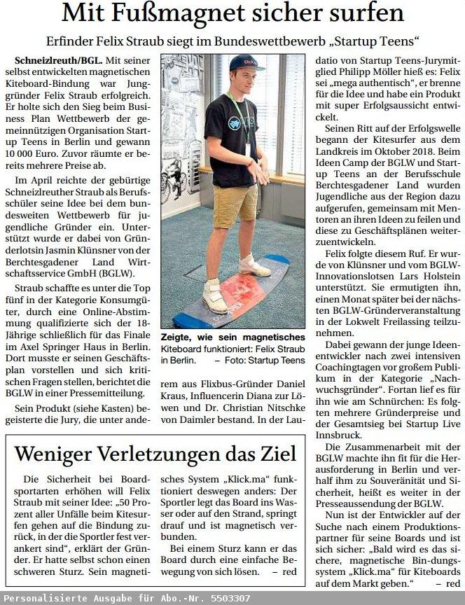 Startup Teens Felix Sieg in Berlin