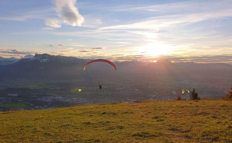 Blick auf Untersberg bis Staufen