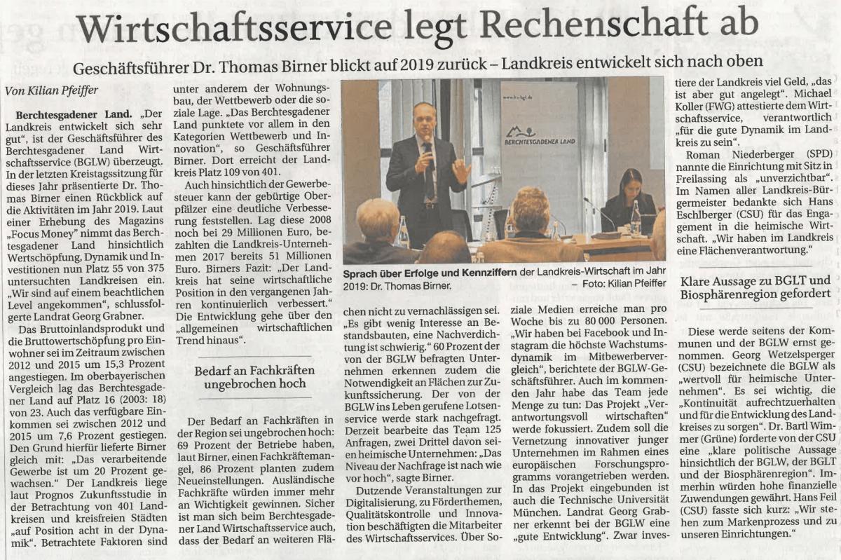 Jahresrückblick Kreistagssitzung Pressebericht