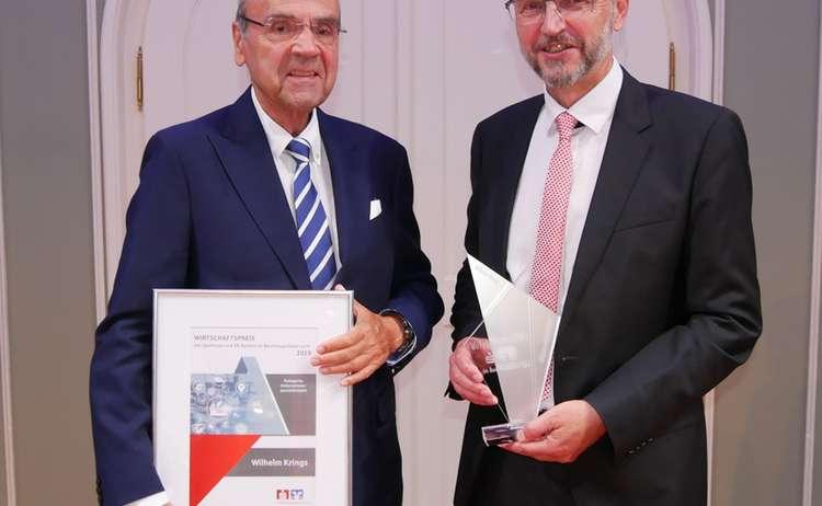 Kategorie Unternehmerpersoenlichkeit Wilhelm Krings Mit Sparkassen Vorstandsvorsitzenden Helmut Grundner