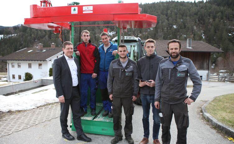 Team Landtechnik Stanggassinger mit Förderlotse Lars Holstein