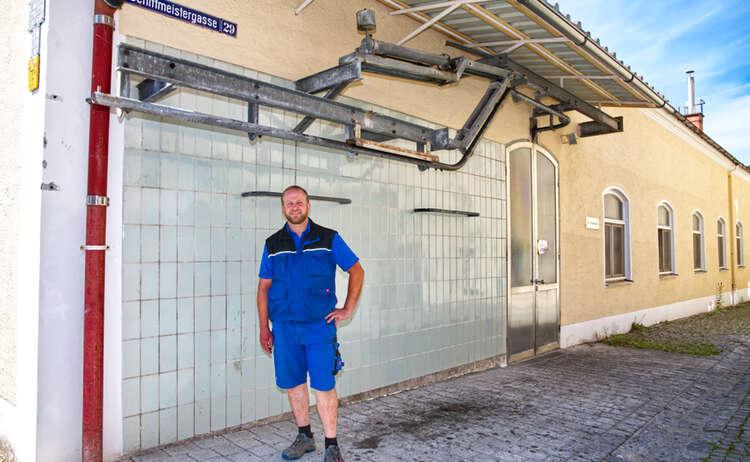 Leiter des Schlachthofes Laufen: Thomas Streitwieser