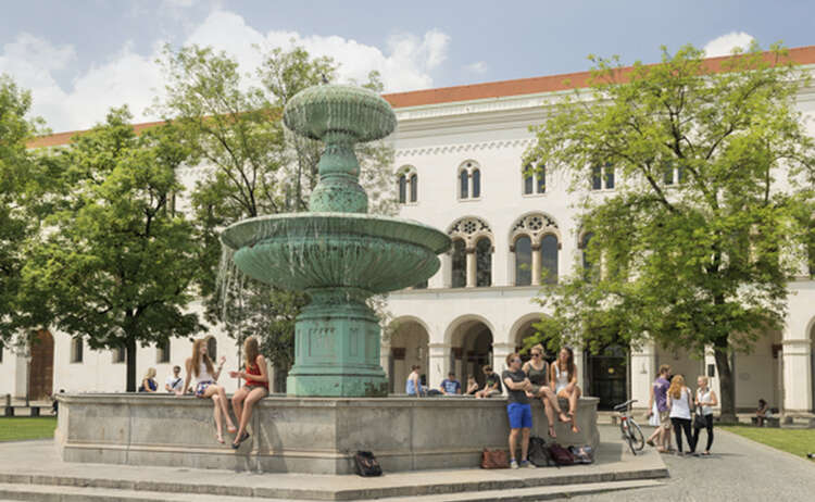 Lmu Munich Main Building Fountain Copyright
