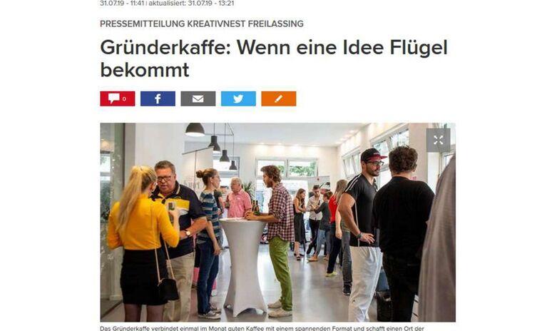 Pressemitteilung Gründerkaffee #5 Teaserbild