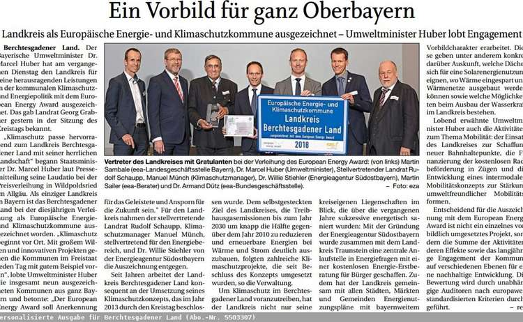 Presseartikel European Energy Award