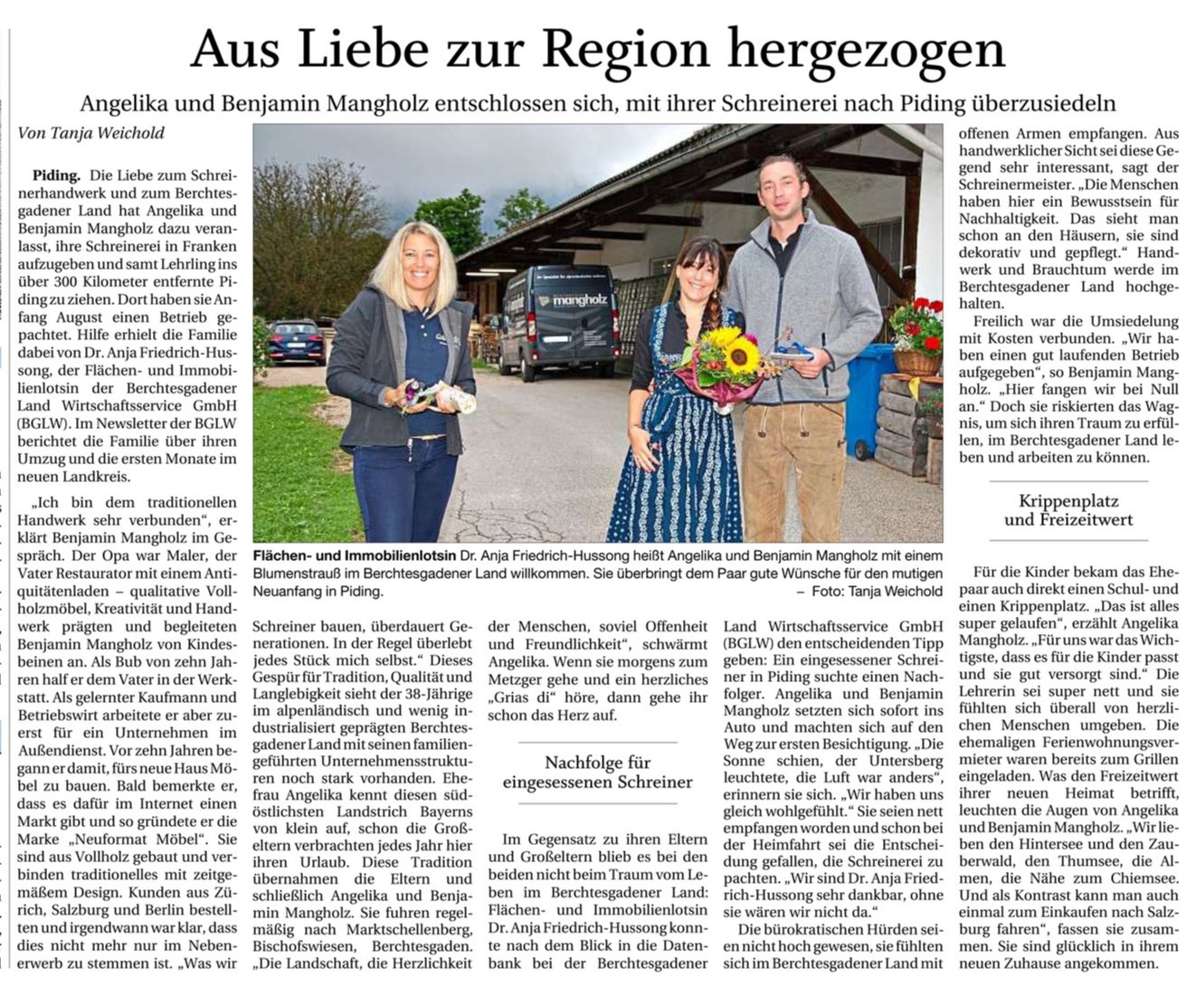 Pressebericht Mangholz