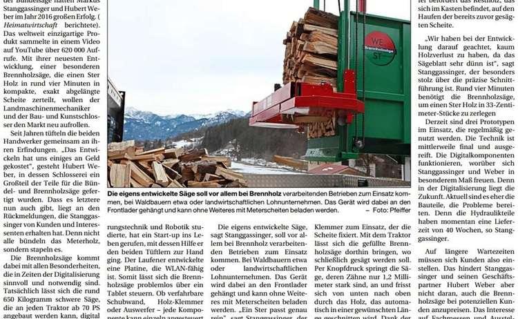 Stanggassinger Pressebericht