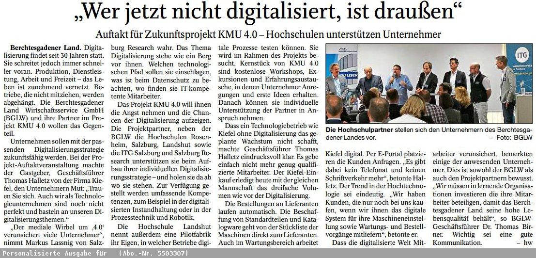 Presseartikel Digitalisierung
