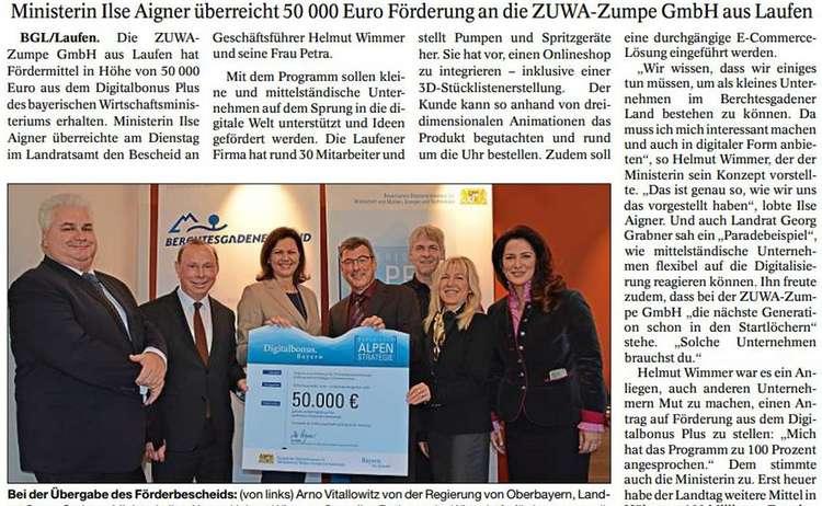 ZUWA-Zumpe Presseartikel